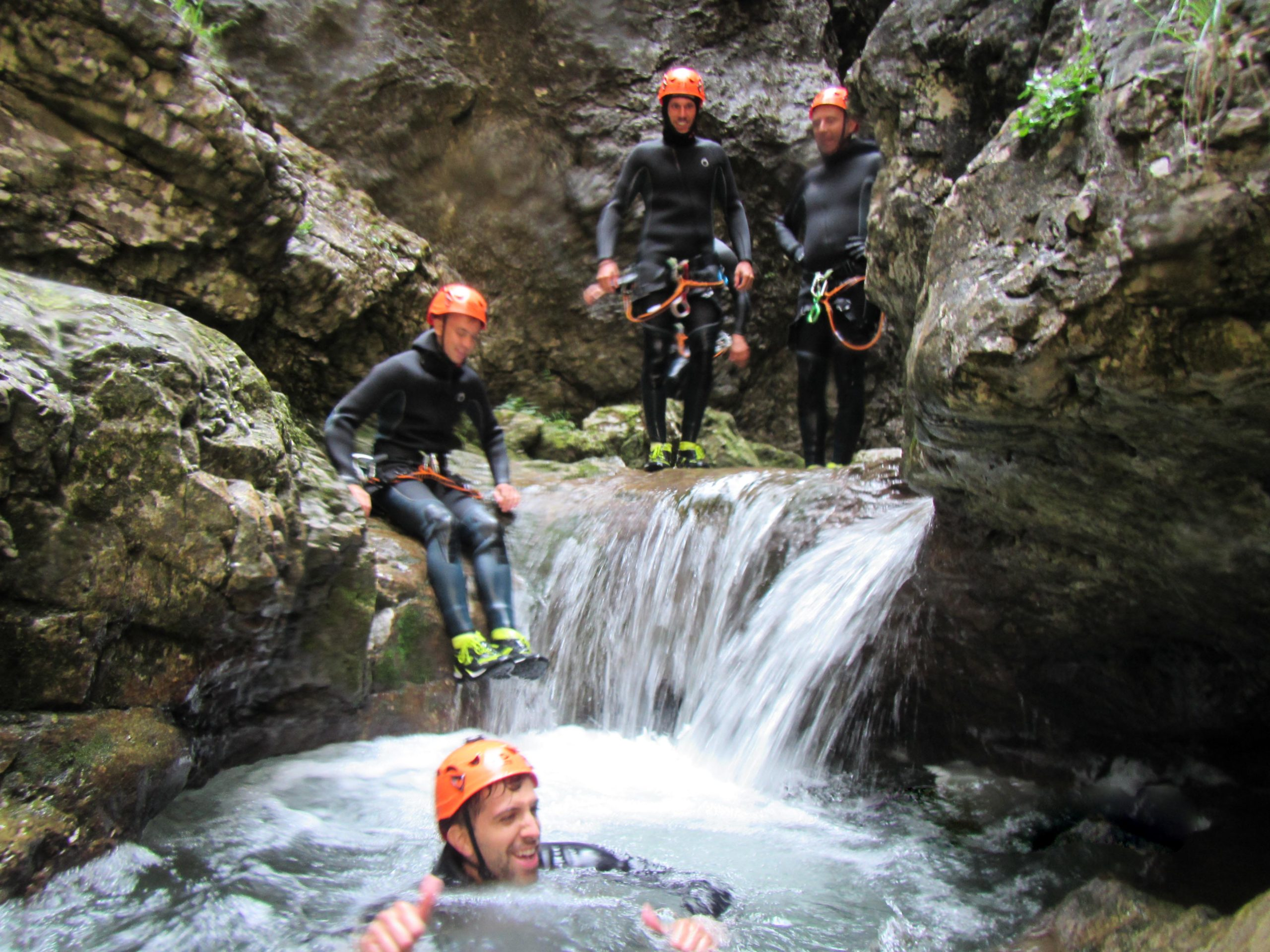 Rionero stream Long Canyoning Trentino route