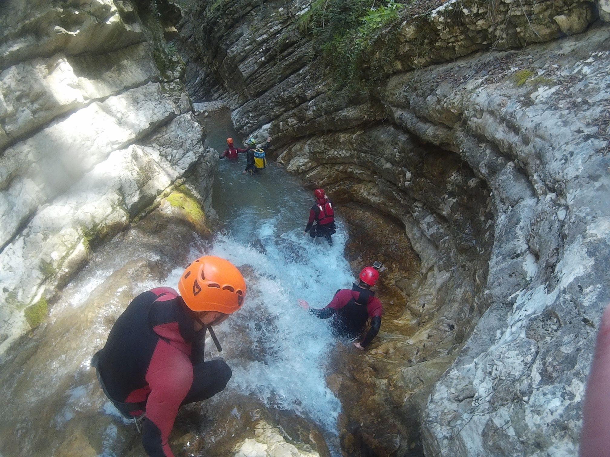 Torrente Rionero Percorso Canyoning Trentino lungo