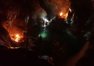 Trentino Canyoning in NotturnaCanyoning Palvico by night