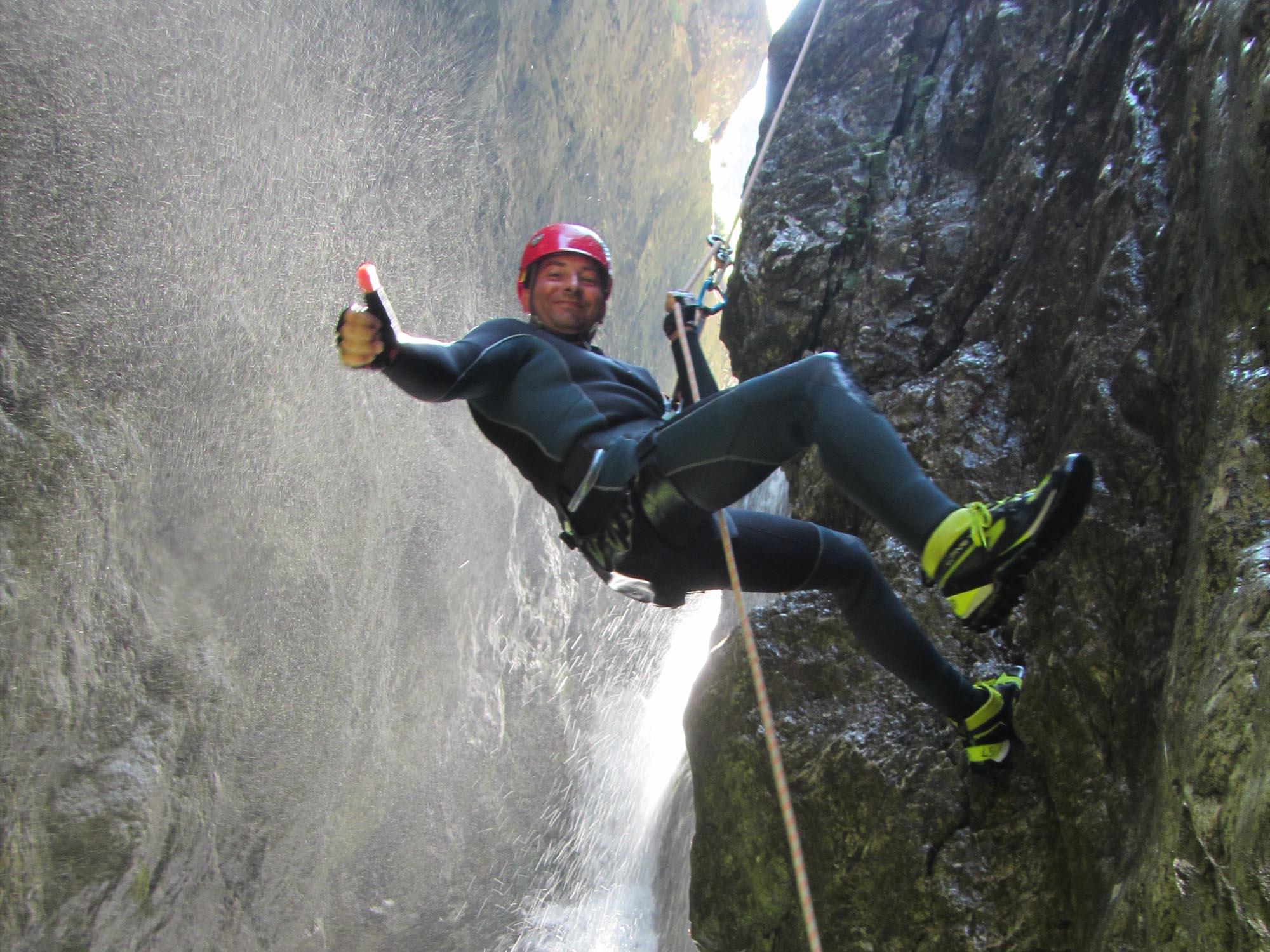 Torrente Tignale Percorso Canyoning Trentino